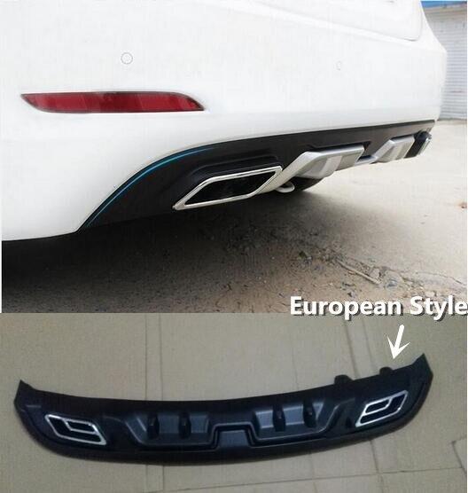elantra european style abs material rear lip car bumper diffuser for hyundai elantra 2014 2015. Black Bedroom Furniture Sets. Home Design Ideas