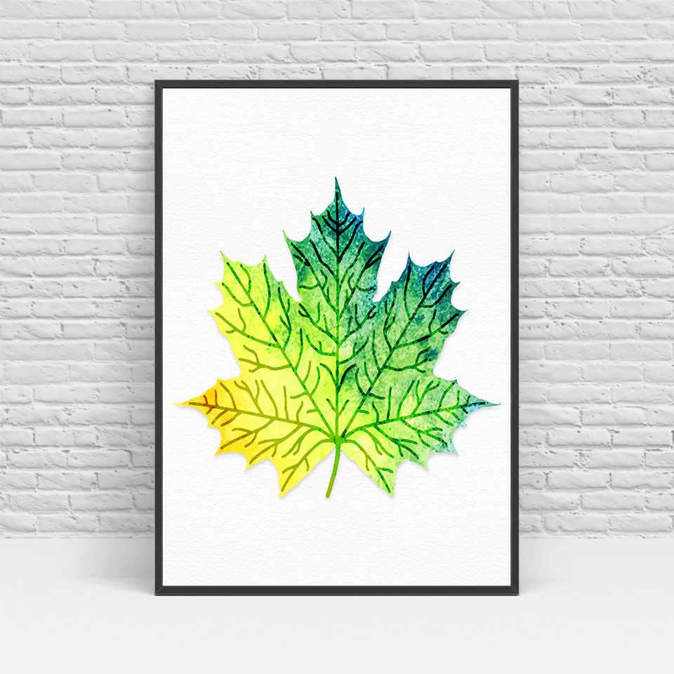 الحديث الشمالي الملونة يترك قماش الفن hd الطباعة المشارك جدار صور للمنزل الديكور اللوحة بدون إطار
