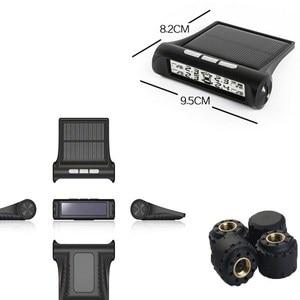 Image 5 - TPMS Tire Pressure Alarm Monitor Solar Powered Auto Tire Pressure Sensor LCD Display 4 Tires Real Time Wireless External Sensor