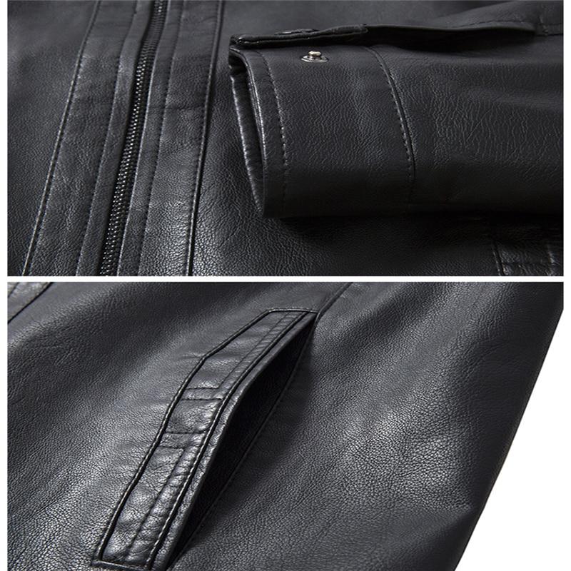 Décontractés Mode Automne Longues En Hommes Manteaux Vestes Brown À Veste Dark noir Manches Jeunes 2019 Pu Cuir IYD2WEH9