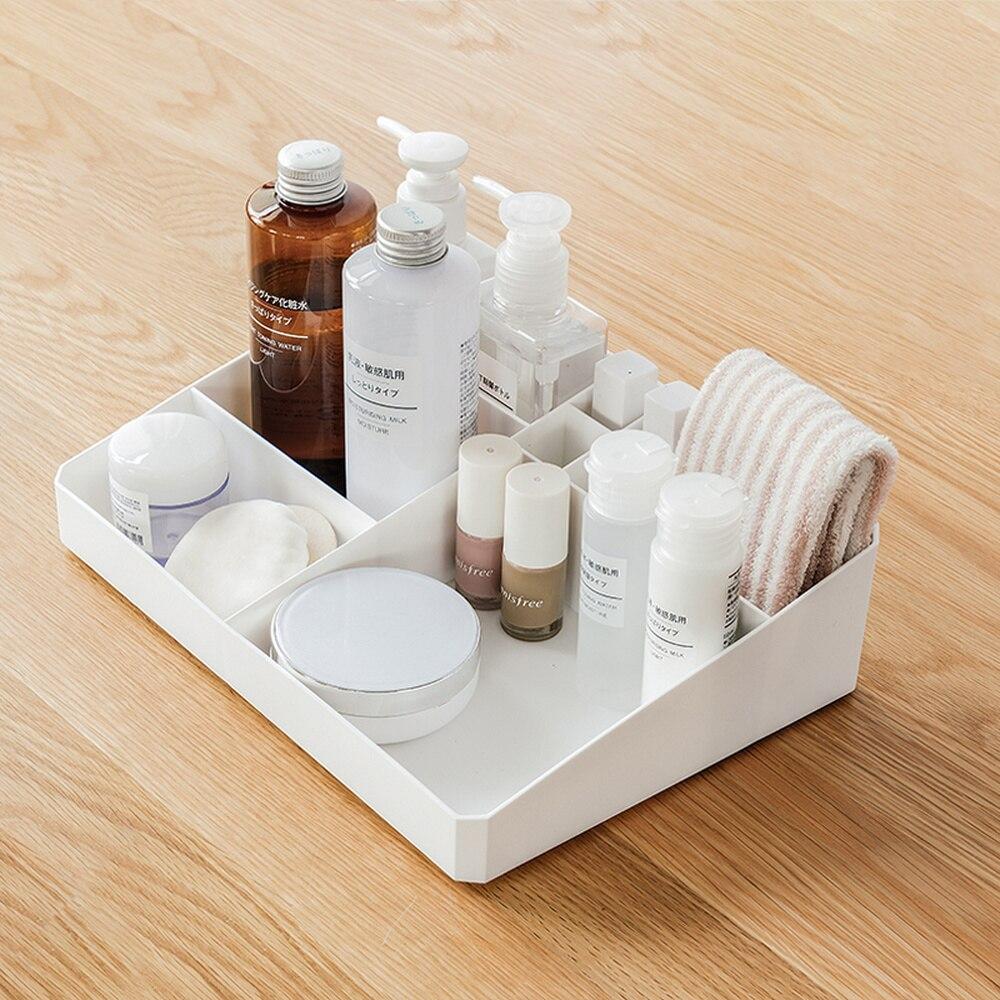 Cosmetic storage box household debris white plastic finishing box skin care