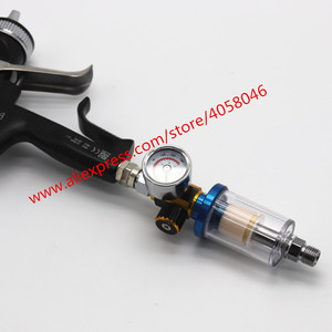 Image 5 - Pistola de pulverización para arañazos, manómetro de regulador de aire y trampa de agua en línea, herramienta de filtro, PISTOLA DE PULVERIZACIÓN, tabla reguladora de presión dedicada, 1 Uds.