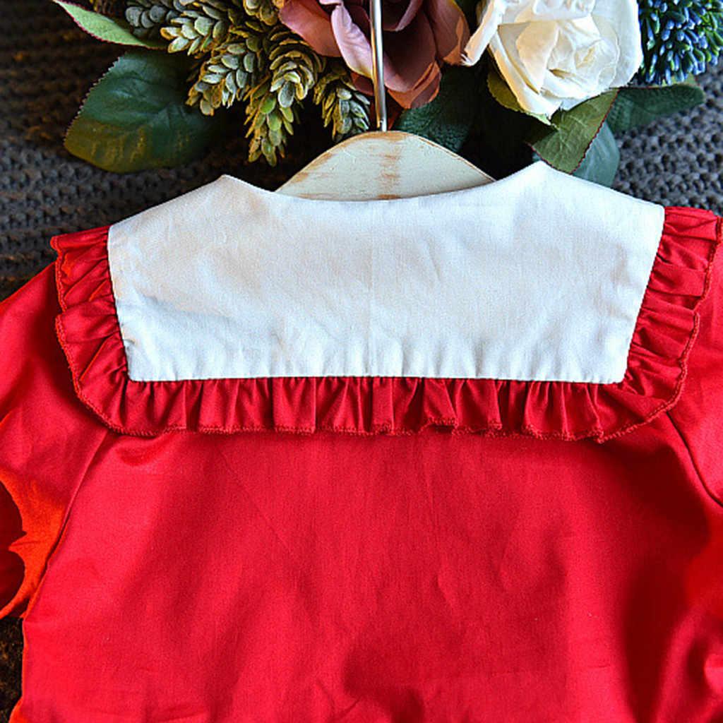 Kiraz Sevimli Yaka Hırka Kazak Elbise Bebek Kız Giyim Giyim Kiraz Nakış Parti Prenses Elbiseler F4