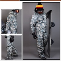 New Premium Southplay Winter Waterproof 10,000mm Skiing Snowboard (Jacket + Pants) Sets Light Khaki Military