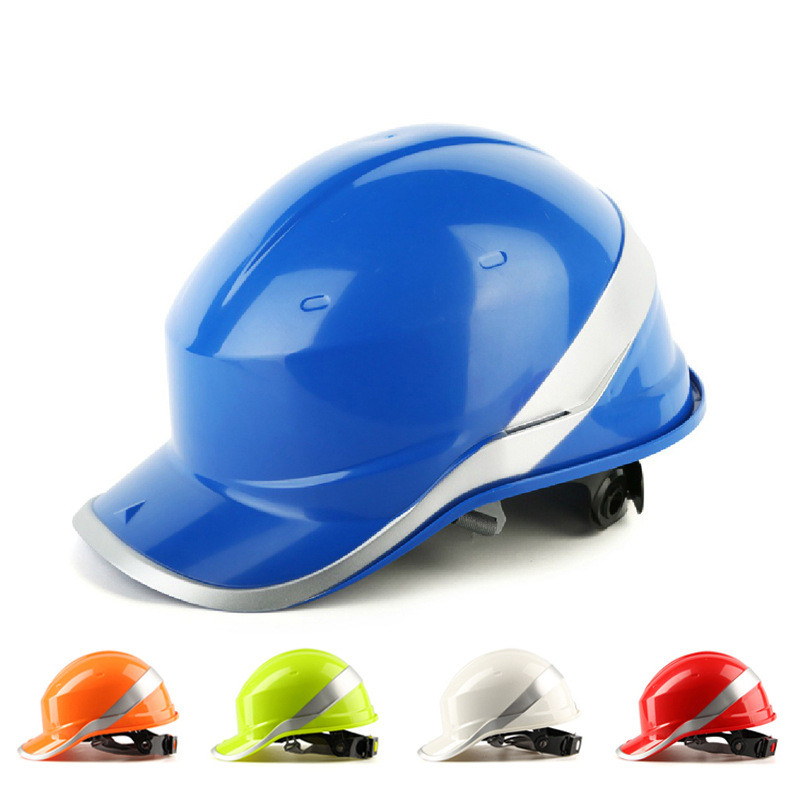 Labor Protection Building Construction Industrial Safety Helmet ABS Insulation With Phosphor Stripe Insulated Protect Helmets international labor migration