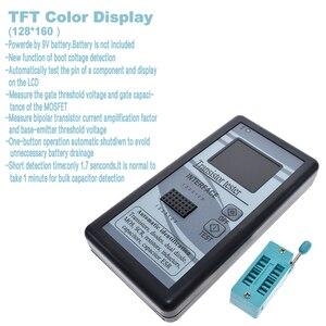 Image 2 - Multi purpose Transistor Tester 128*160 Diode Thyristor Capacitance Resistor Inductance MOSFET ESR LCR Meter TFT Color Display