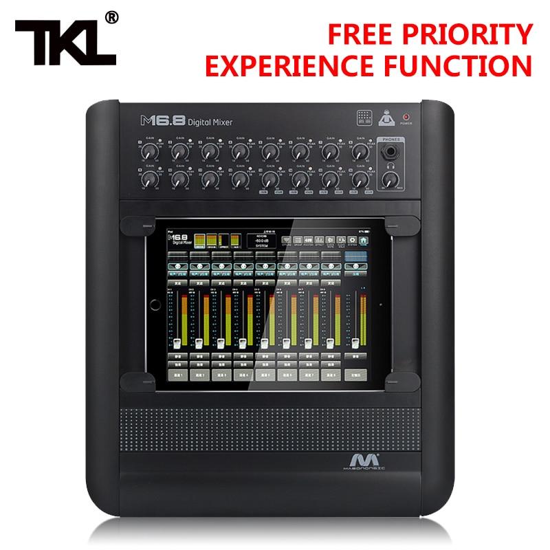 Unterhaltungselektronik Tragbares Audio & Video Vorsichtig Tkl M16.8 Professional Audio Digital Mixer Ipad 16 Kanal Usb Wifi Dj Sound Mischen Für Karaoke Ktv Spiel-party