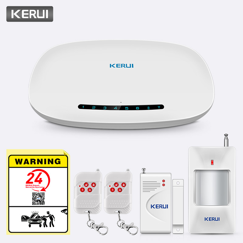 KERUI W19 Language Switch 433MHz Wireless APP Remote Control Message Push Auto Dial Home Security SOS GSM Alarm System Kits