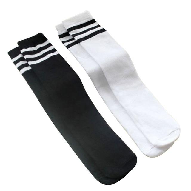 2 Pairs/Lot Child Socks for Kids Girls Boys Knee High Socks Children School Football Sports Striped Style 1-15 Years