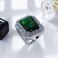 Новая модная anillos Свадебные аксессуары очень яркий ААА Цирконий большой прямоугольный коктейльные кольца для женщин anillos