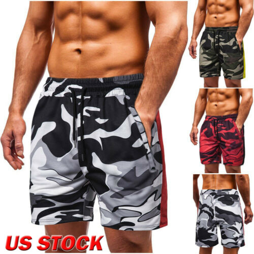 Men Summer Beach Casual Shorts Gym Sport Training Fitness Camouflage Short Pants
