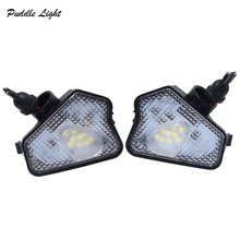 2x 6000K Bright White LED Under Side Mirror Puddle Lights Lamp For Benz A/B/C/E/S/CLA/CLS/GLA/GLK-Class Auto Lighting