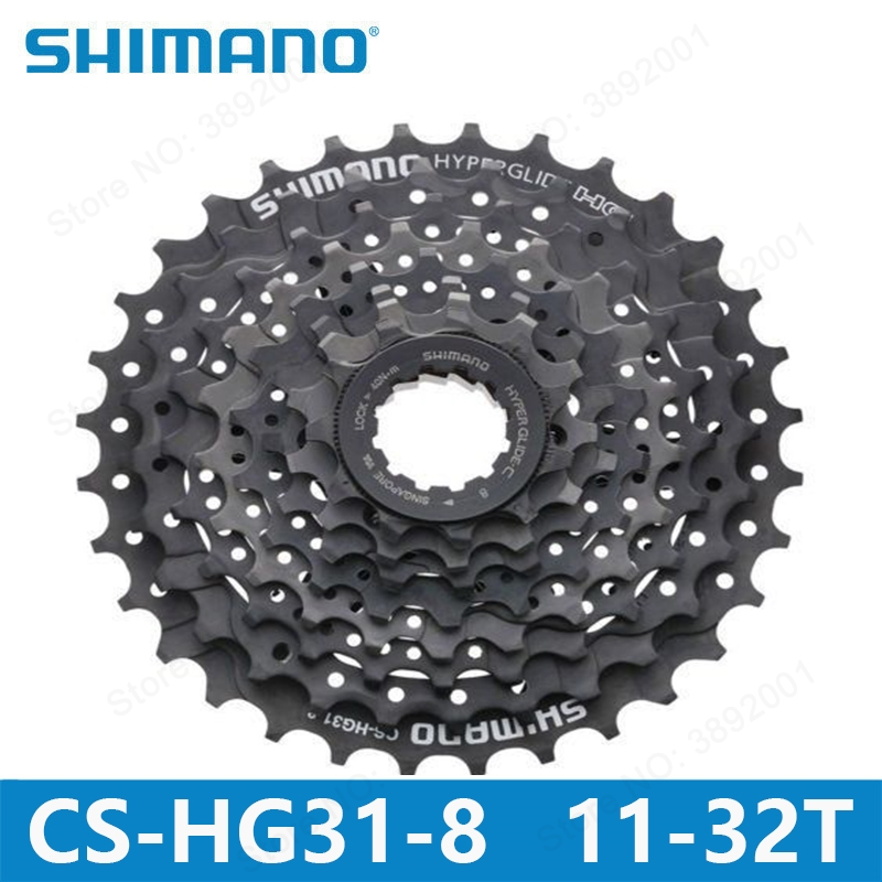 <font><b>SHIMANO</b></font> CS-<font><b>HG31</b></font>-<font><b>8</b></font> mountain bike MTB cassette flywheel 11-30/32T ALIVIO DEORE bicycle parts 8s /24s flywheel GS <font><b>HG31</b></font> image