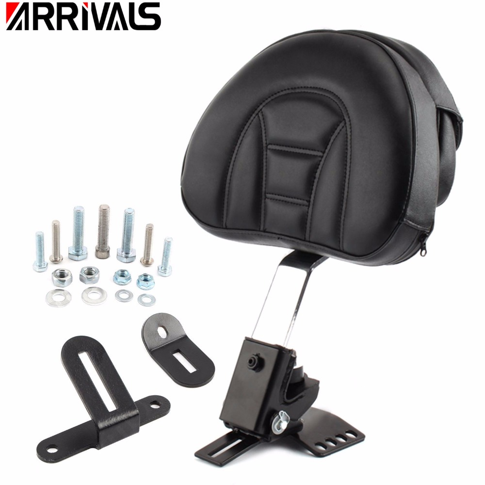 Motorcycle Adjustable New Plug In Driver Rider Seat Backrest Kit For Harley Touring Electra Road Street Glide Road King 97-15 new stylish best price abs mid frame air deflectors for harley touring road king tri street electra glide motorcycle accessories