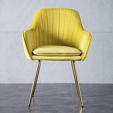 цены Modern Simple Dining Chair Bedroom Modern Minimalist Makeup Chair Office Chair Living Room To Discuss Chair Home CVB
