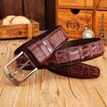 2017 new arrival fashion pin buckle belts men crocodile style guitar strap coffee designer belt size 115 cm waistband jeans