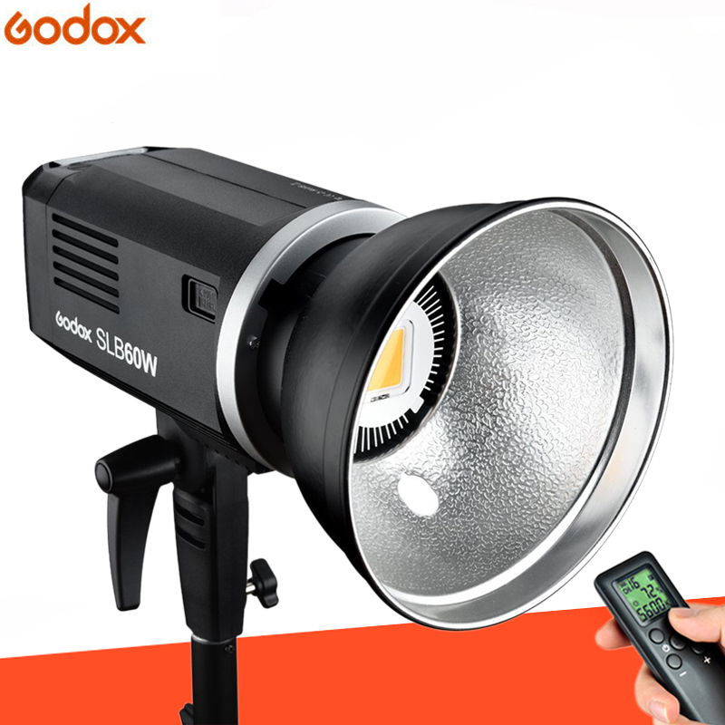 Godox SLB60W 60W 5600K White Version Lithium Battery Outdoors Portable Continuous Studio Lamp LED Video Light