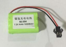 Free shipping 7.2V AAA Ni-MH 1000mAh Battery Pack Rechargeable battery batteries for toy medical equipment