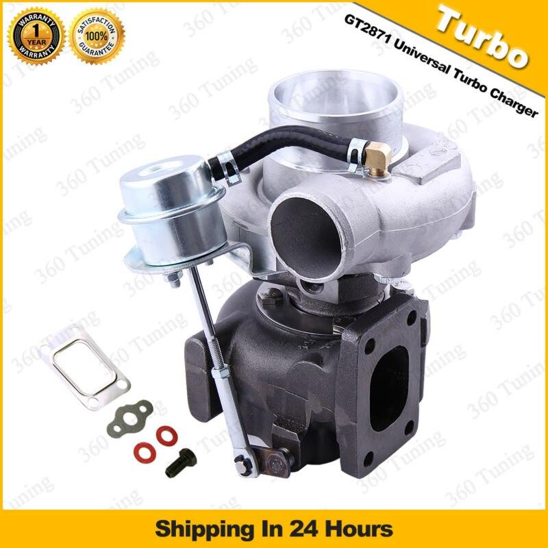 Prix pour GT2871 GT28 T25 Universel Turbo Chargeur D'eau huile boîte de VITESSES MANUELLE à 1.8L-3.0L AR 0.64 pour Nissan 180SX 200SX S13 S14 S15 SR20DET CA18DET