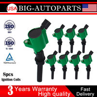 CARBOLE 8pcs High Performance Ignition Coils Pack For Ford F 150 F 250 4 6L 5