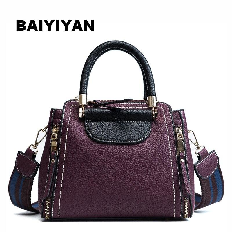 BAIYIYAN Brand New PU Leather Women Handbag Shoulder bag Female Tote bag Women's Crossbody Bags Ladies Business bag
