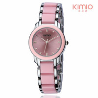 Reloj de cerámica 2017 Kimio marca moda casual reloj de señoras reloj mujeres relojes de cuarzo reloj Relogio feminino