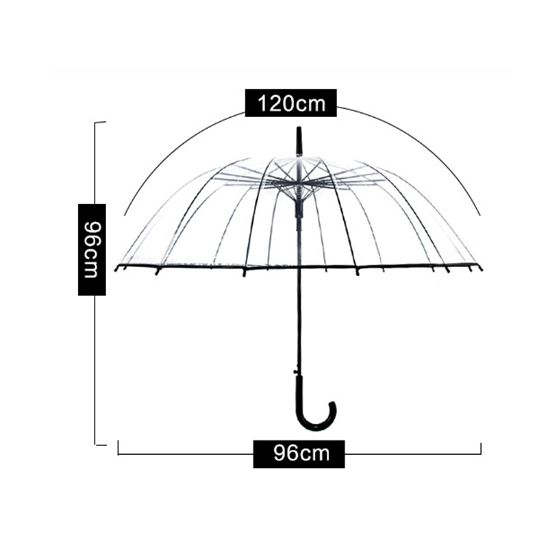 Long-handle Automatic Transparent Umbrella  1
