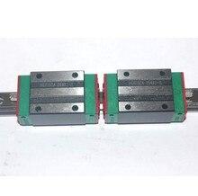 2 шт. 100% оригинал Hiwin железнодорожных HGR20-600MM с 4 шт. HGH20CA узкие блоки для чпу