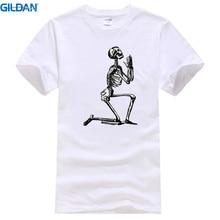 Print Tee Clothing Fashion Men Crew Neck Short-Sleeve Novel Grappige Schedel Paradise Jezu T Shirts цена
