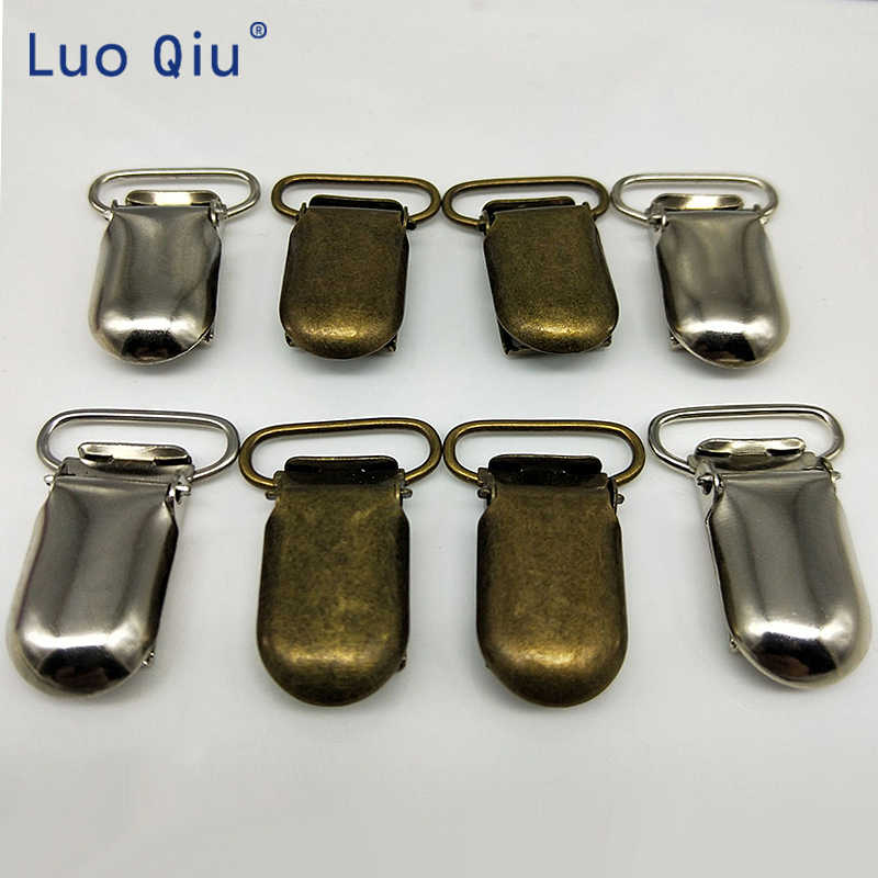 Practical Webbing clip attache sucette metal clip U shape 35*20mm Silver Suspender Clips for Trousers 6 pcs/lot