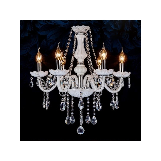 6 leuchtet vintage glanz kristall kronleuchter beleuchtung lampe fr foyer esszimmer restaurant dekoration avize - Kronleuchter Fur Foyer