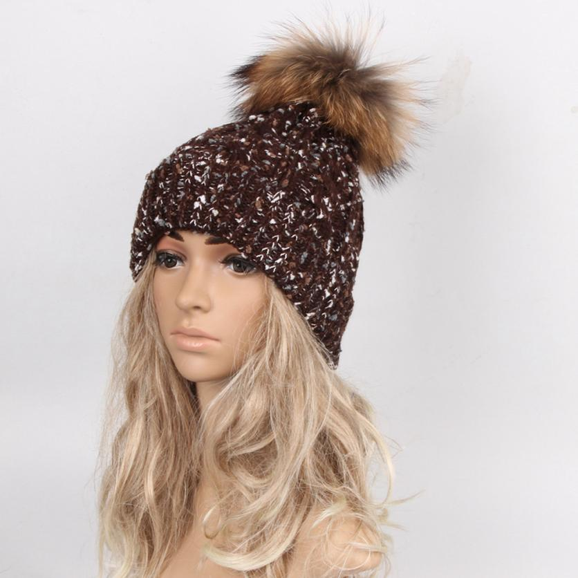 Hot Skullies Beanies Winter Autumn Hat pom pom Caps For Women Girl Vintage Design Hemming Warm Hat Female Drop Shipping WDec13 skullies