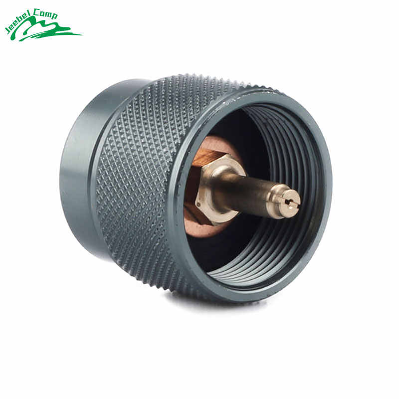 Propane Adapter Camping Stove Adapter Gas Adapter Converter Outdoor Propane Small Tank Input EN417 Valve Output Cylinder Canister Adapter for Outdoor Camping