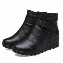 Shoes women boots 2017 Snow boots shoes women genuine leather winter boots women boots warm plush winter shoes plus size 41