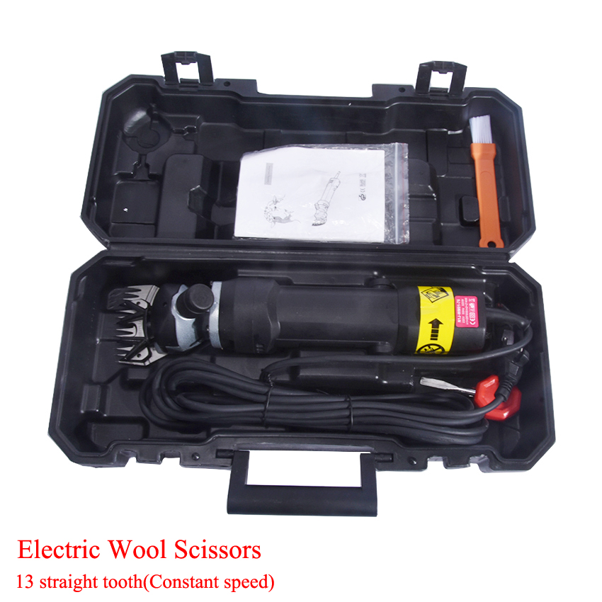 320 W ELECTRIC SHEEP / GOATS SHEARING CLIPPER + 13 teeth straight knife High-power cut wool  Electric wool scissors lesions of skin of sheep and goats due to external parasites