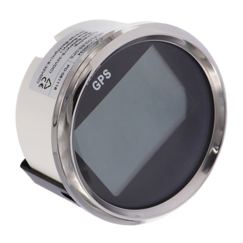 85mm Digital Speedometer Gauge Boat 0999 Knots MPH Km H Adjustable GPS Speed Fit Motorcycle Car With Red Backlight In Speedometers From