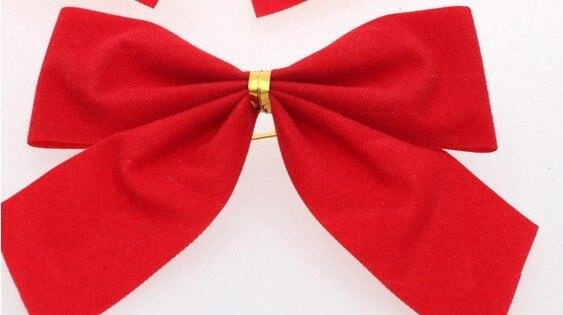1 UNIDS Bow Decoración Adornos Del Árbol de Navidad Feliz NAVIDAD Garden Party Arcos de Navidad Adorno Para El Hogar