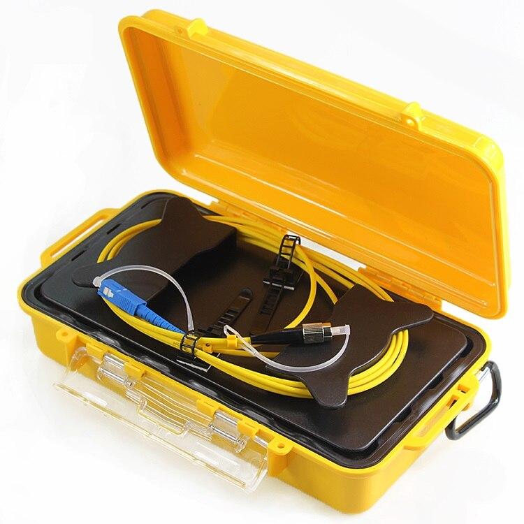 Yellow Fiber Optic OTDR Launch Cable Box Dead Zone Eliminator Rings 1km SM FC/UPC-SC/UPC