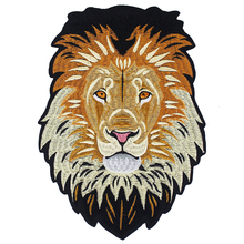 10 חתיכות האריה רקמת ברזל על חזרה תיקוני רקום Applique תיקון תוויות מדבקת בגדי תפירת אביזרי TH1256