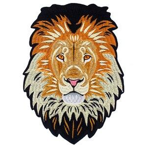 Image 1 - 10 peças leão bordado ferro em remendos de volta bordado applique reparação emblemas para roupas adesivo acessórios costura th1256