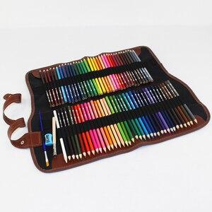 Image 4 - طقم أقلام رصاص ملونة من الخشب 48/72 لونًا طقم أقلام رسم حقيبة أقلام رصاص حقائب لوحة فنية للمدرسة