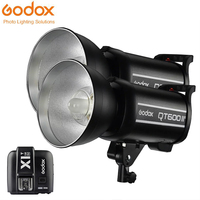 2PCS Godox QT600II GN76 1/8000s High Speed Sync Flash Strobe Light with Built in 2.4G Wirless System add X1T Trigger