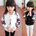 New spring children jackets flower print jackets for girls coat casual children outwear baby girls cardigan baby jacket 2-8 Year