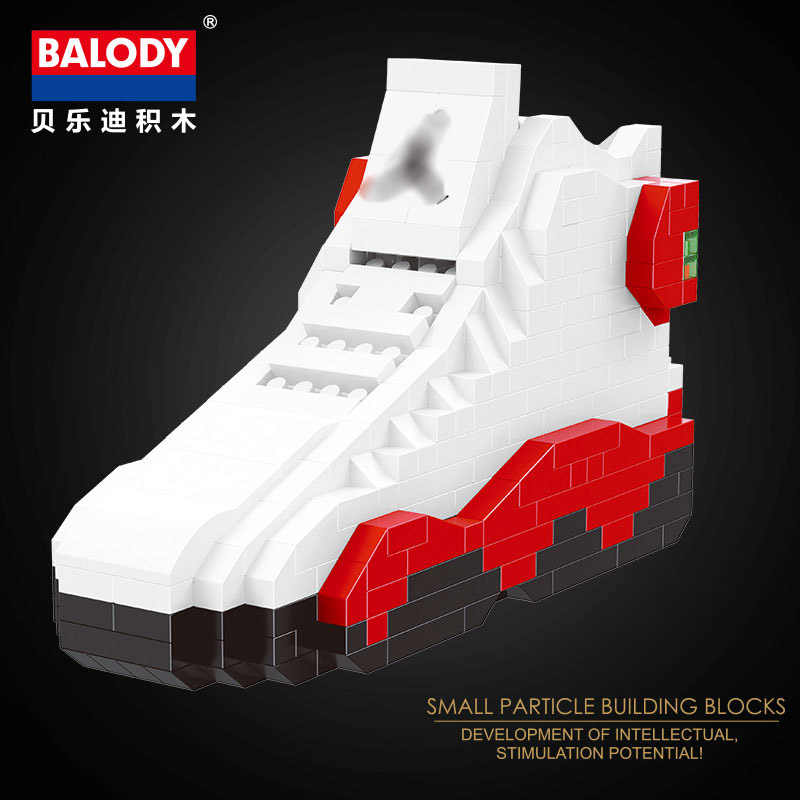 new concept 22ec1 97eb6 20different sport Basketball shoes air jordan brick aj XI XIII III  assemable model diamond building block toy collection
