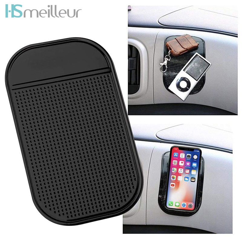 Non-slip Silicone Car Dashboard Mobile Phone Sticky Pad Anti Slip Mat Adhesive