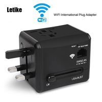Letike WiFi International Travel Power Adapter Plug Converter All In One Dual 2 4A USB Universal