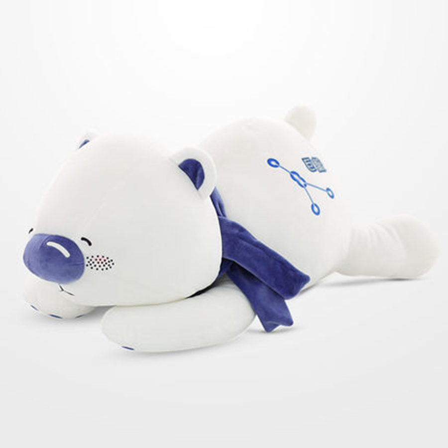 Cute Animal Soft Stuffed Plush Toys White Bear Luminous Constellation Bear Plush Teddy Bear Pillow Peluches De Animales 70C0114