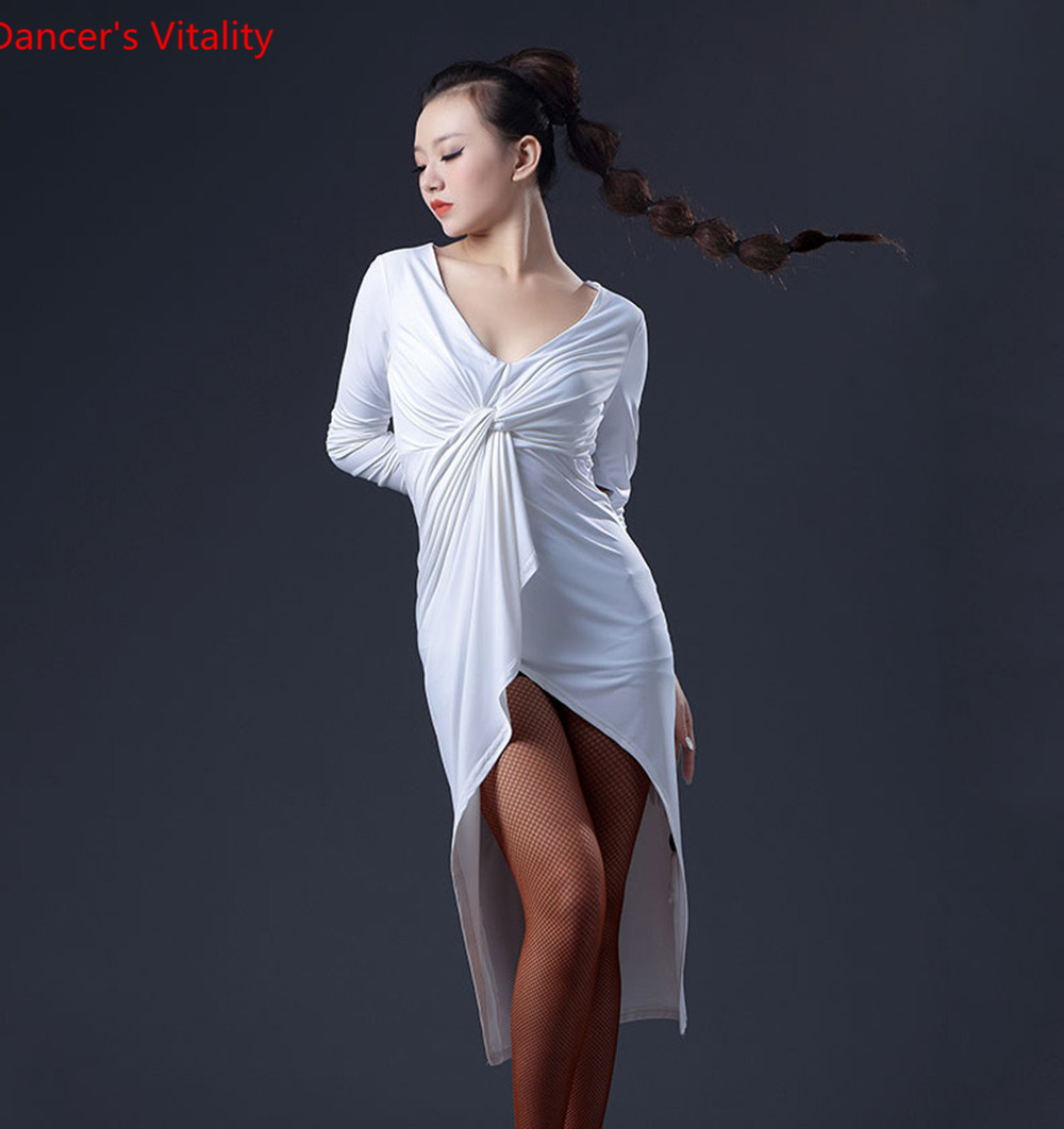 2017 Brand New 3 Colors Latin Dance Dress Womens Summer Long Backless Latin Dance Clothing Competition Latin Hot Sale