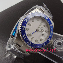 Newest Hot 2017 top brand Luxury 40mm Bliger white dial sapphire glass date GMT automatic movement