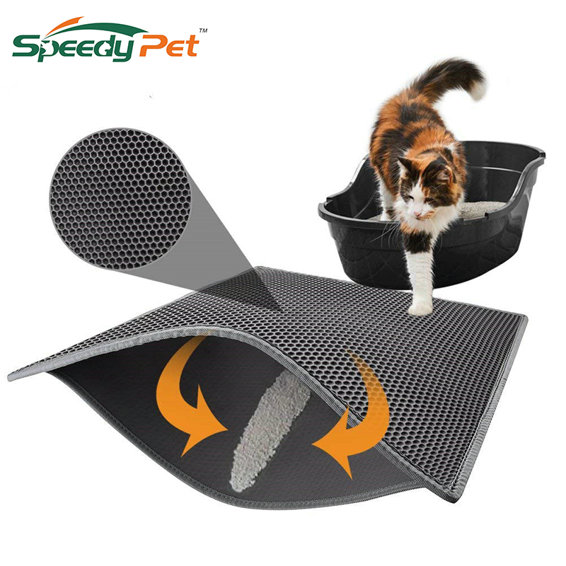 Waterproof Cat Litter Mat Litter Trapper of S-XL Honeycomb Double-Layer Design With Easy Clean and Floor Protection Cat Supplies